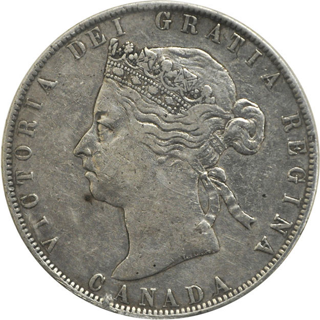 VF-20 - 50 cents 1870 to 1901 - Victoria