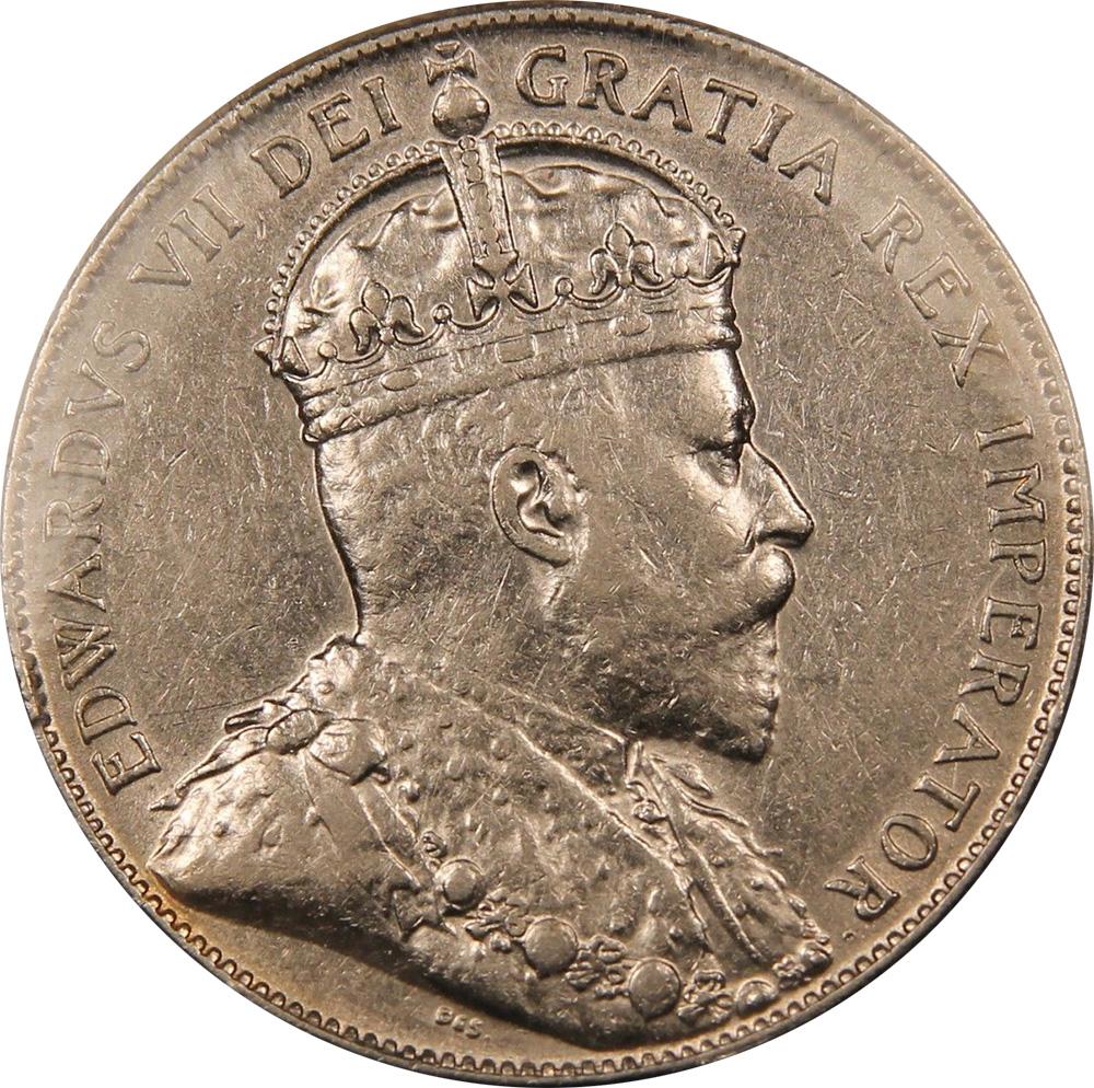EF-40 - 50 cents 1904 to 1909 - Newfoundland - Edward VII
