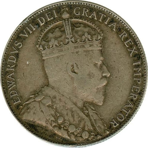VF-20 - 50 cents 1902 to 1910 - Edward VII