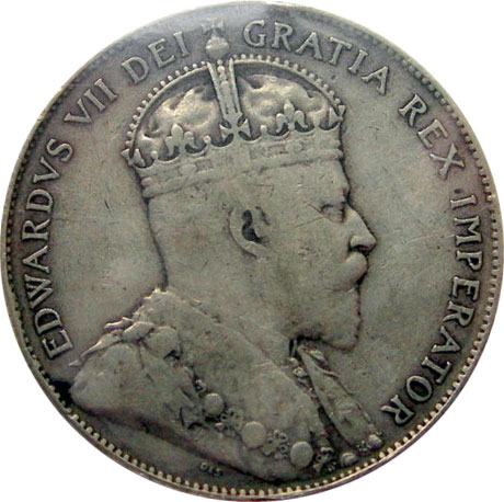 VF-20 - 50 cents 1902 to 1910 - Edward VII