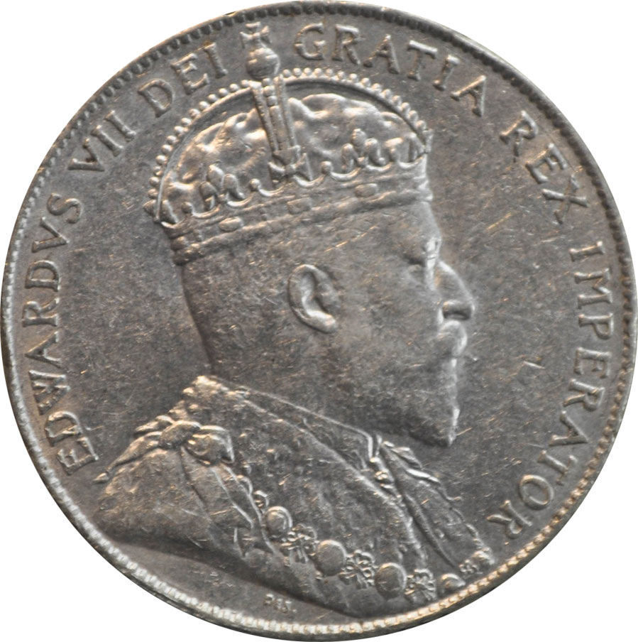 EF-40 - 50 cents 1902 to 1910 - Edward VII