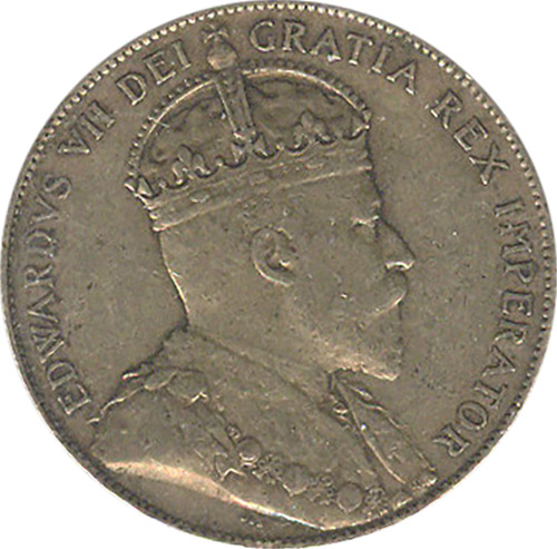 VF-20 - 50 cents 1904 to 1909 - Newfoundland - Edward VII