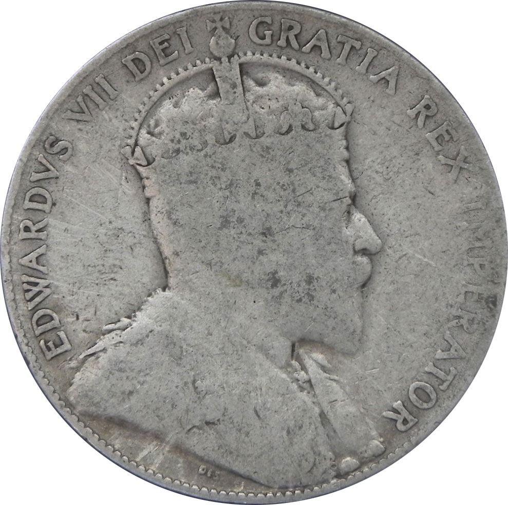 VG-8 - 50 cents 1902 to 1910 - Edward VII