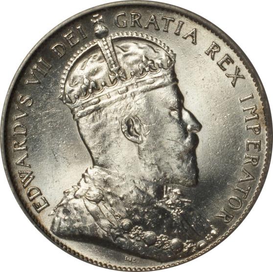 AU-50 - 50 cents 1904 to 1909 - Newfoundland - Edward VII