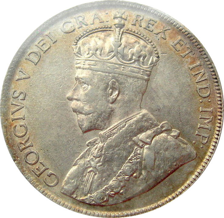 AU-50 - 50 cents 1911 to 1936 - George V
