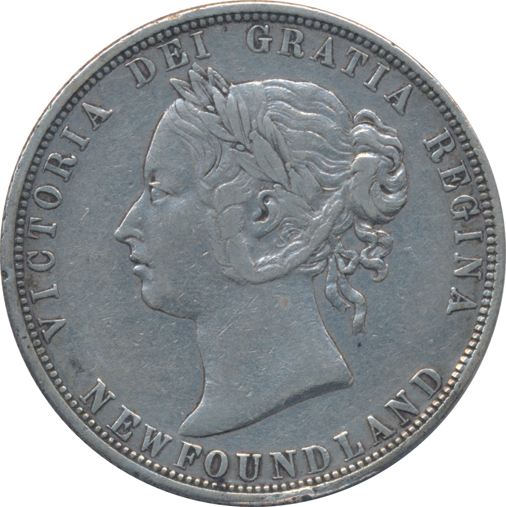 VF-20 - 50 cents 1865 to 1900 - Newfoundland - Victoria