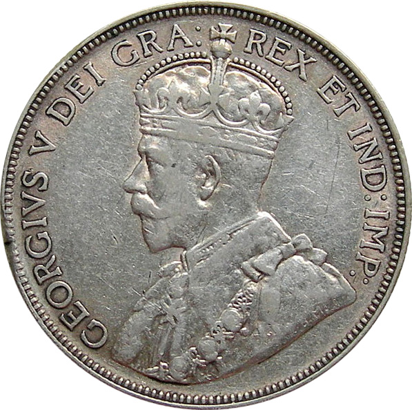 VF-20 - 50 cents 1911 to 1936 - George V