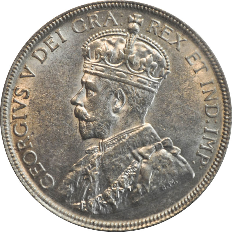 MS-60 - 50 cents 1911 to 1936 - George V