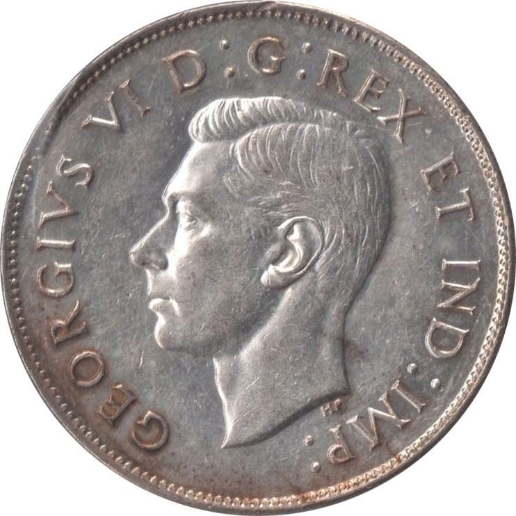 EF-40 - 50 cents 1937 to 1952 - George VI