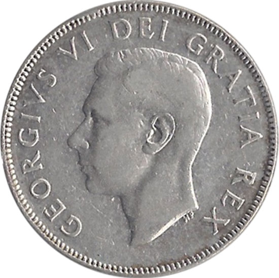 F-12 - 50 cents 1937 to 1952 - George VI