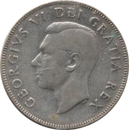 VG-8 - 50 cents 1937 to 1952 - George VI
