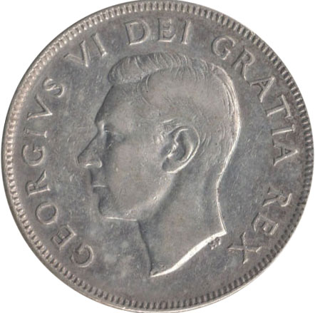 VF-20 - 50 cents 1937 to 1952 - George VI