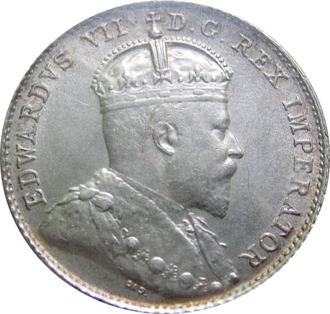 AU-50 - 10 cents 1902 to 1910 - Edward VII