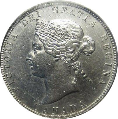 AU-50 - 25 cents 1870 to 1901 - Victoria