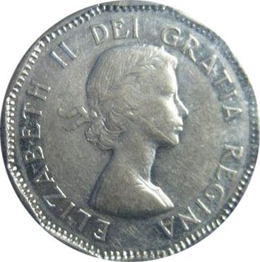 VF-20 - 5 cents 1953 to 1964 - Elizabeth II