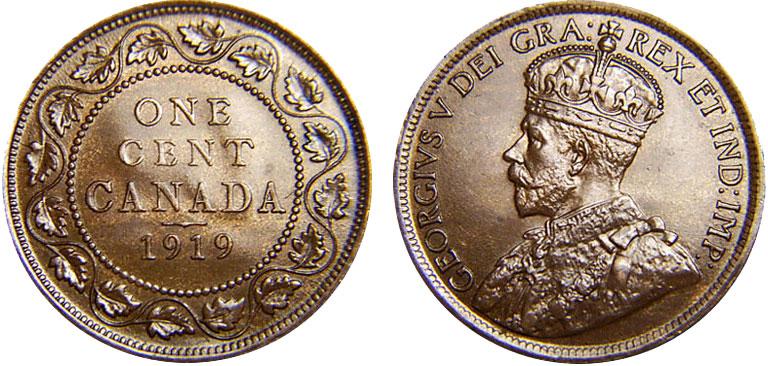 1 cent 1919