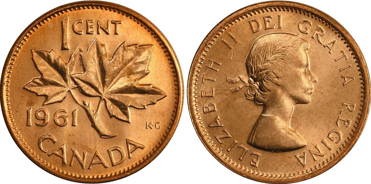 1 cent 1961