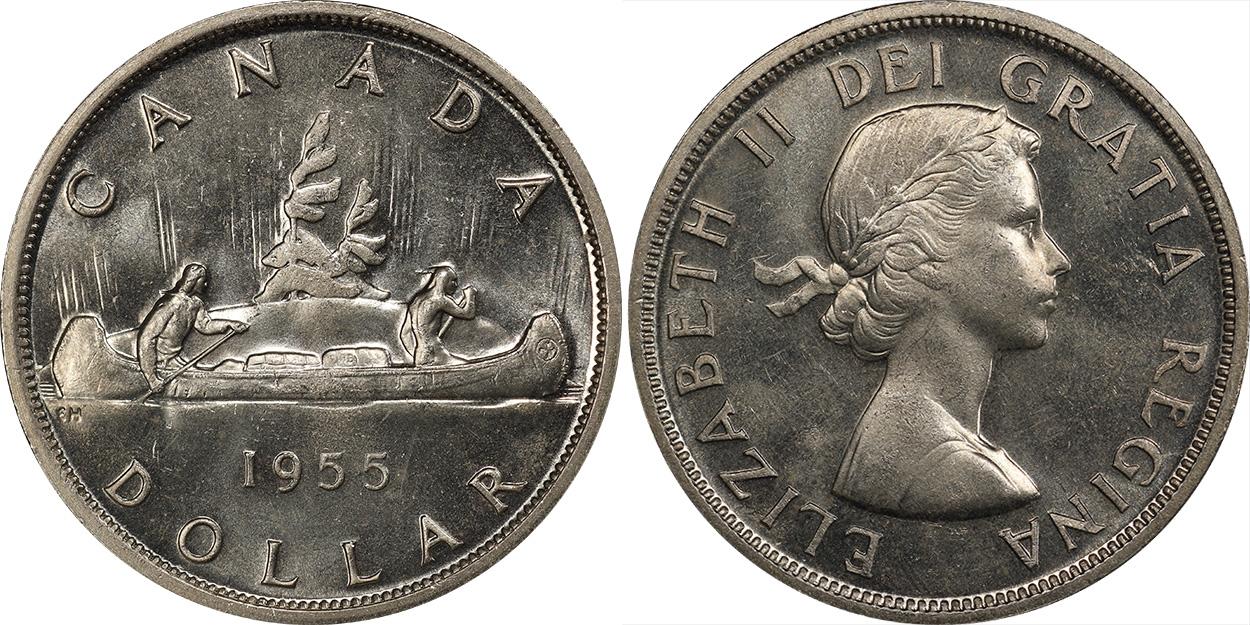 1 dollar 1955