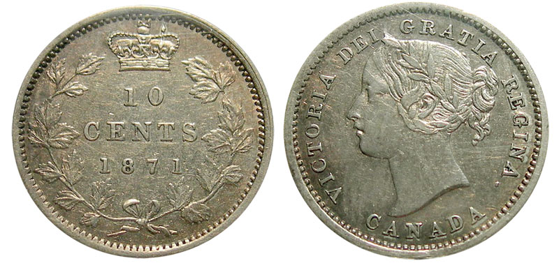 10 cents 1872