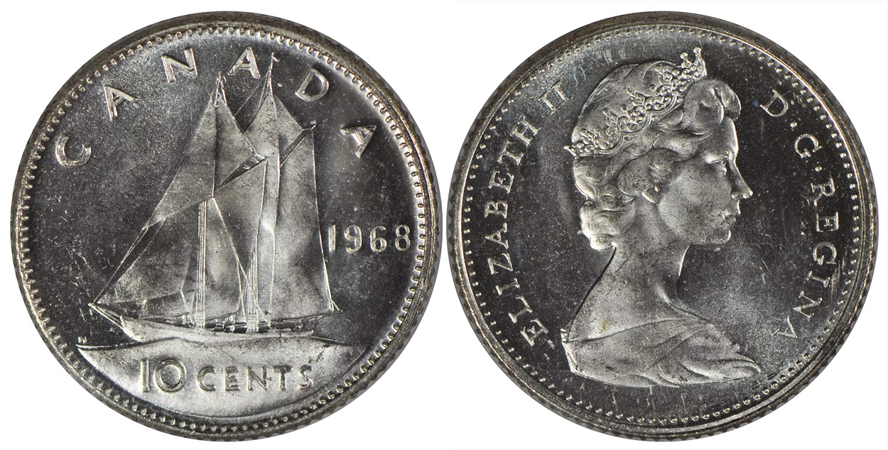 10 cents 1968