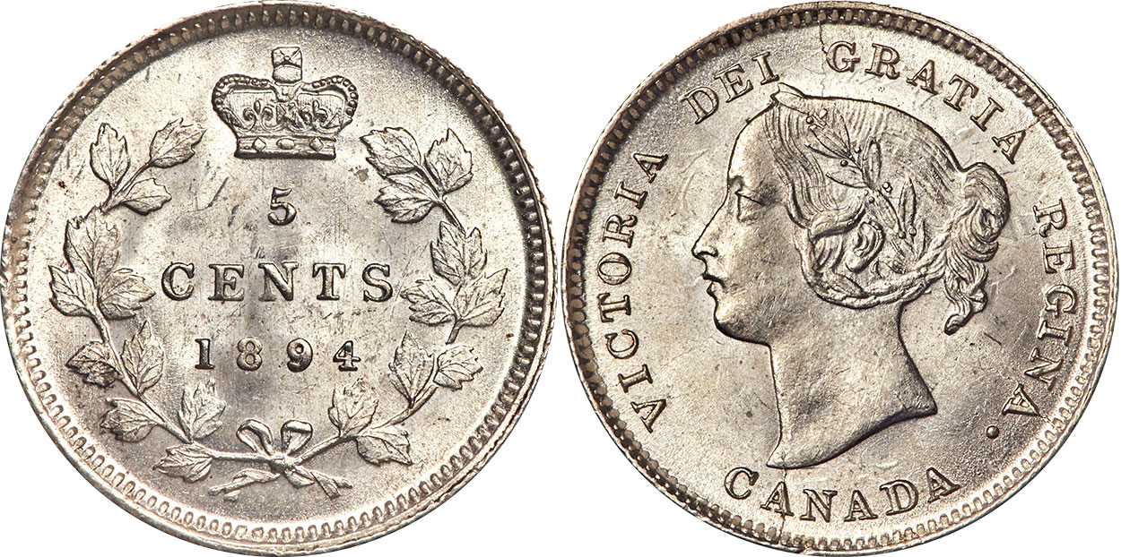 5 cents 1894