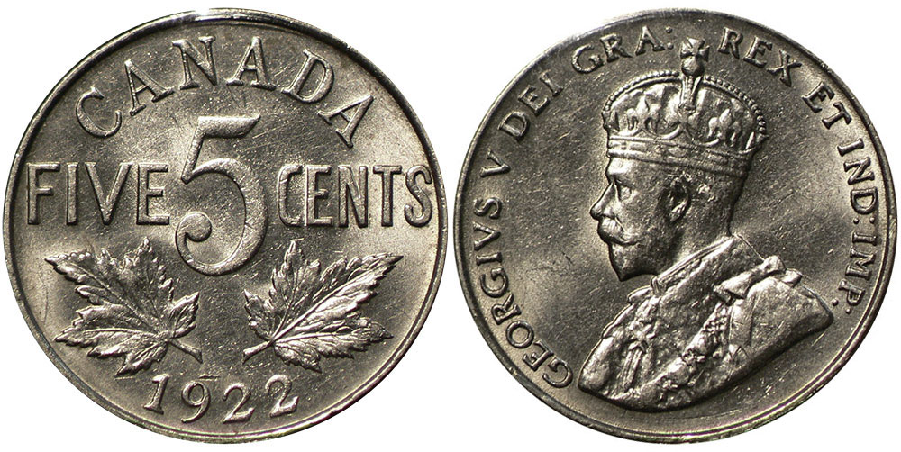 5 cents 1922
