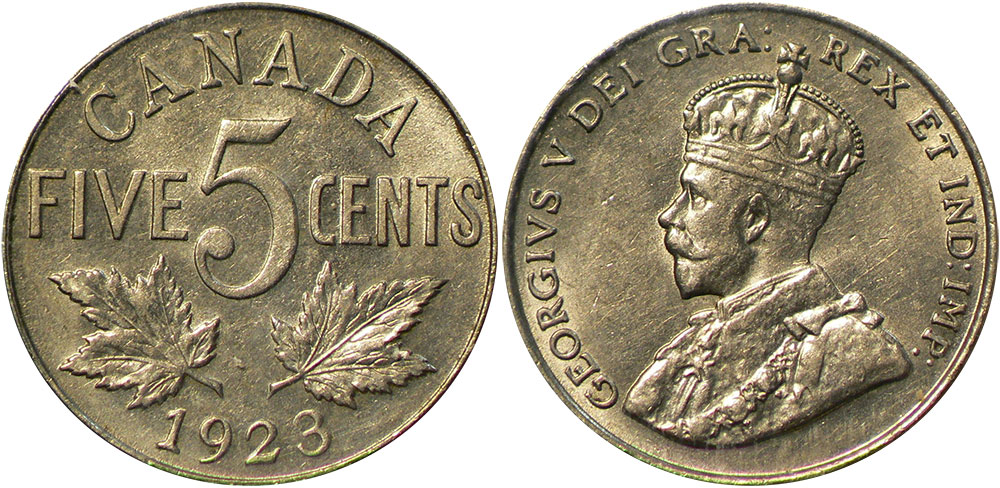 5 cents 1923