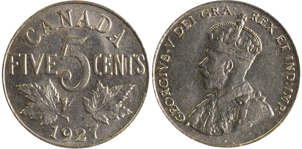 5 cents 1927