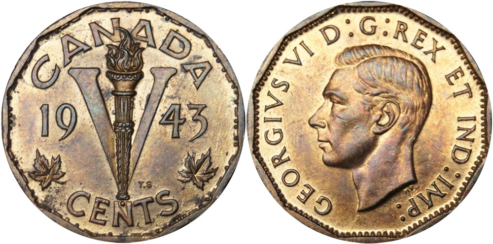 Canada 1942 5 Cents George VI Canadian Nickel