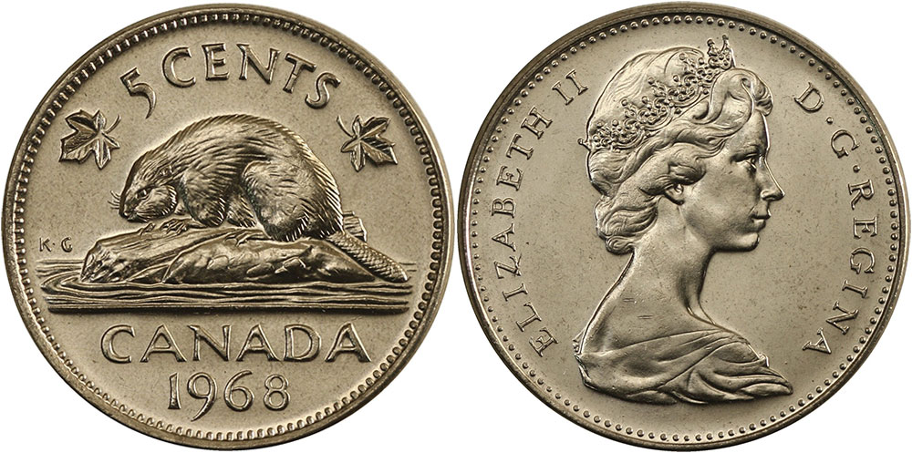 5 cents 1968