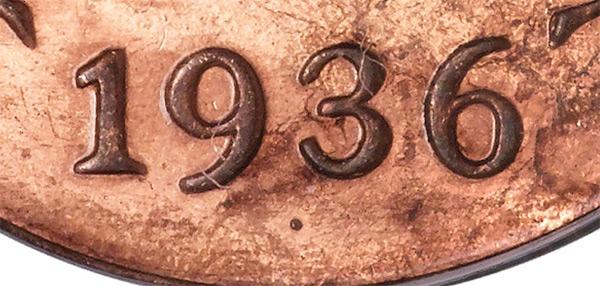 1 cent 1936 - Dot