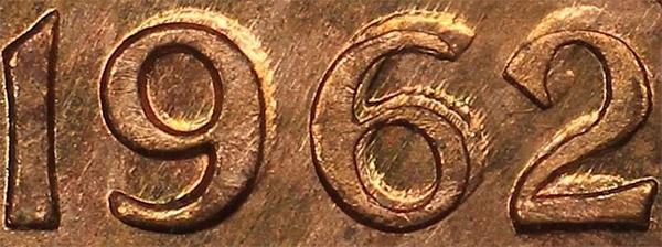 1 cent 1962 - Double 962