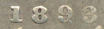 10 cents 1893 - Round Top 3