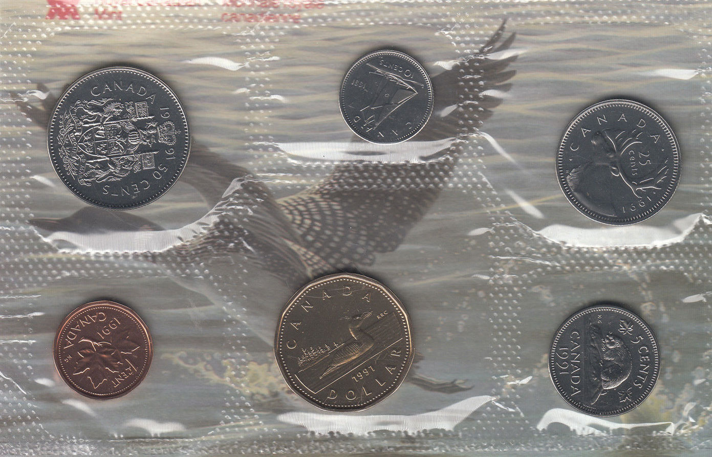 1991 Canada Proof Like Set One Set From The Lot.