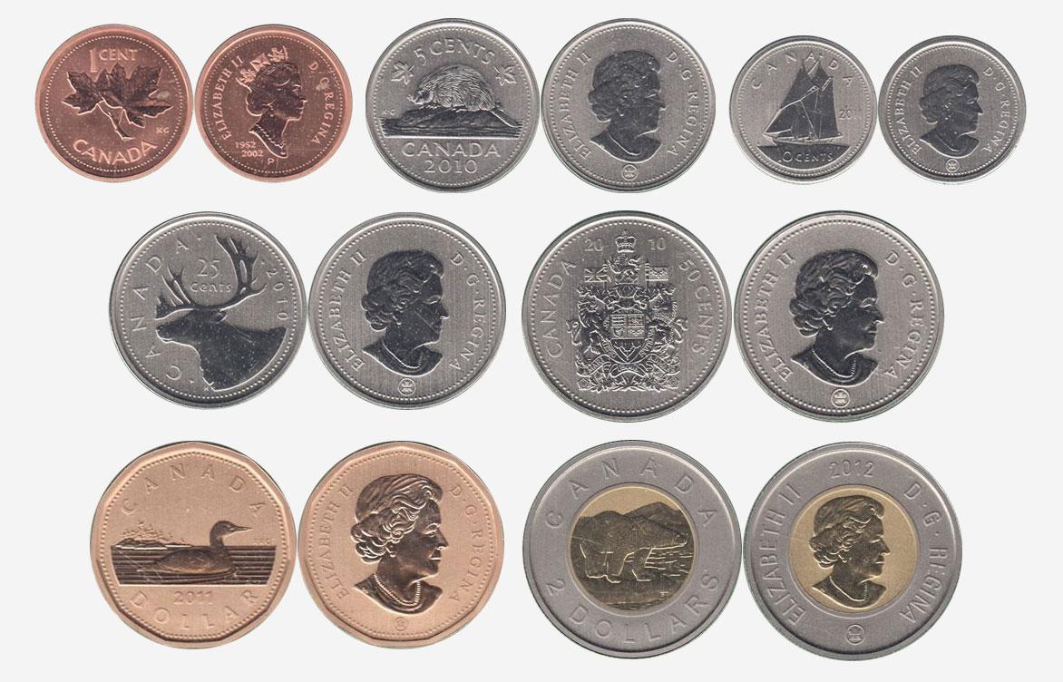 Specimen coins
