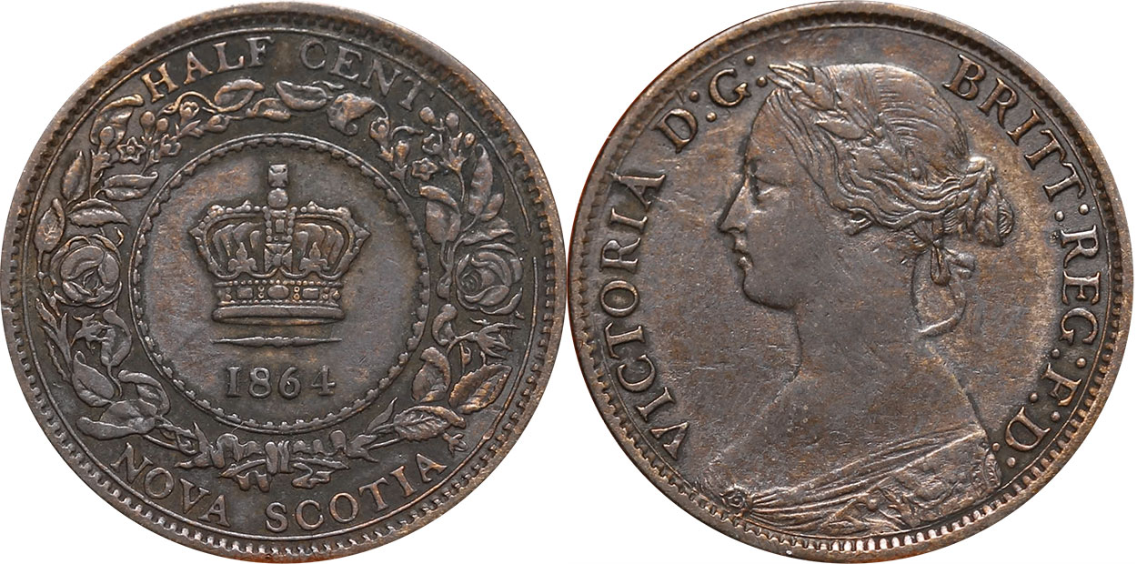 1/2 cent 1864 - Nova Scotia