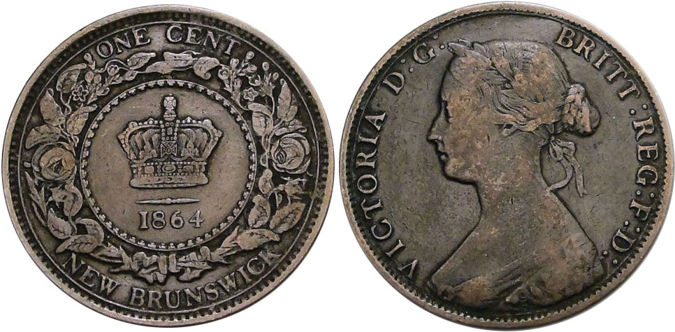 1 cent 1864 - New Brunswick