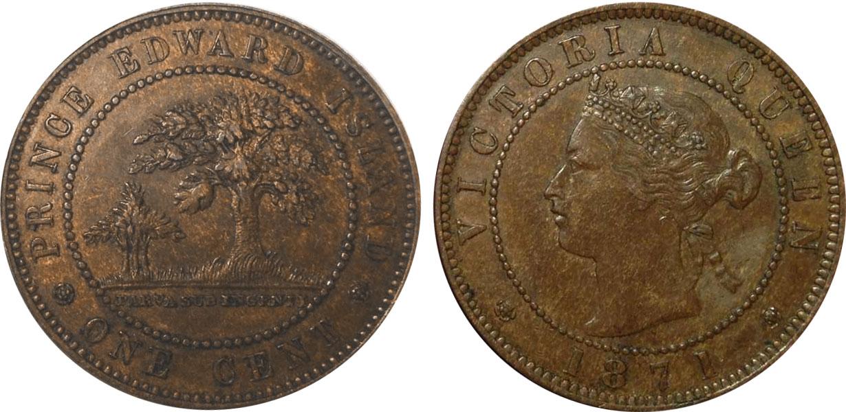 1 cent 1871 - Prince Edward Island