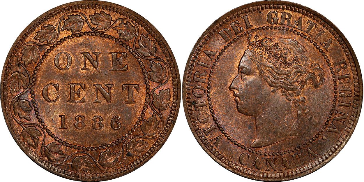 1 cent 1886