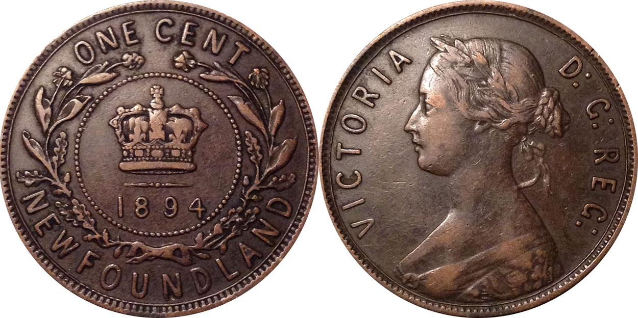 1 cent 1894 - Newfoundland