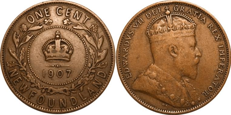 1 cent 1907 - Newfoundland
