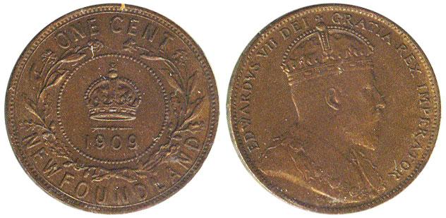 1 cent 1909 - Newfoundland