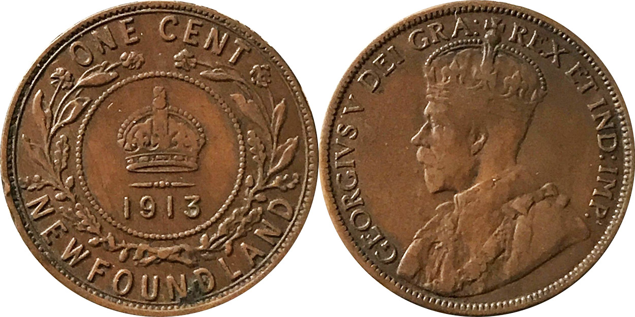 1 cent 1913 - Newfoundland