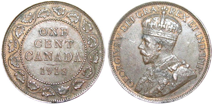 1 cent 1918