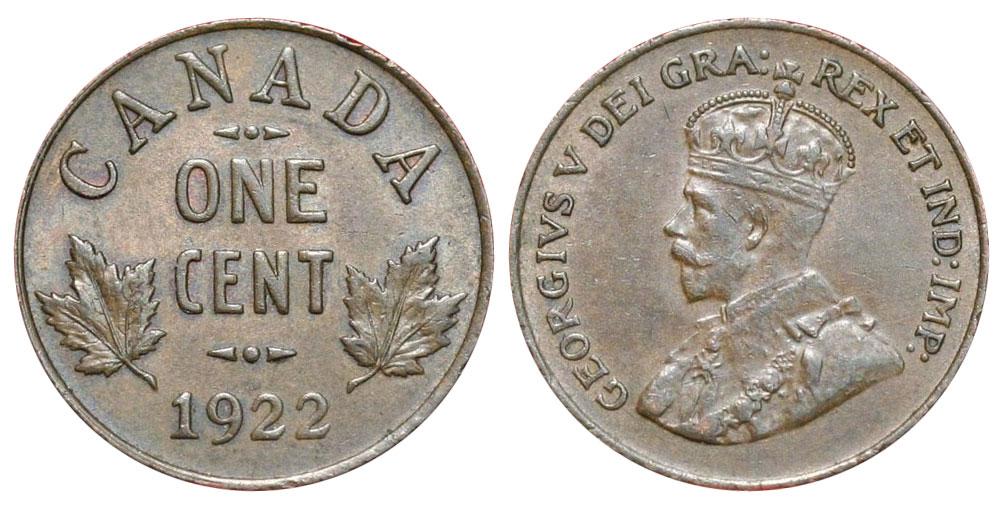 1 cent 1922