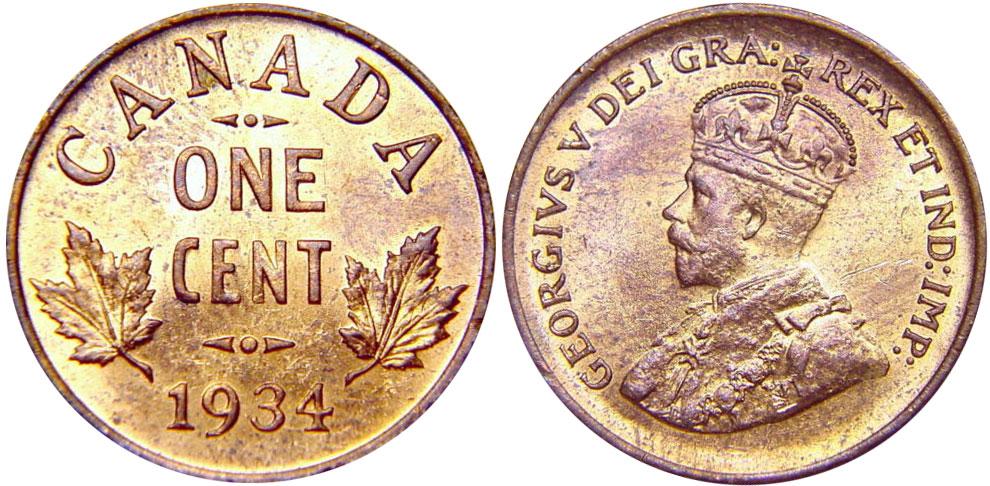 1 cent 1934