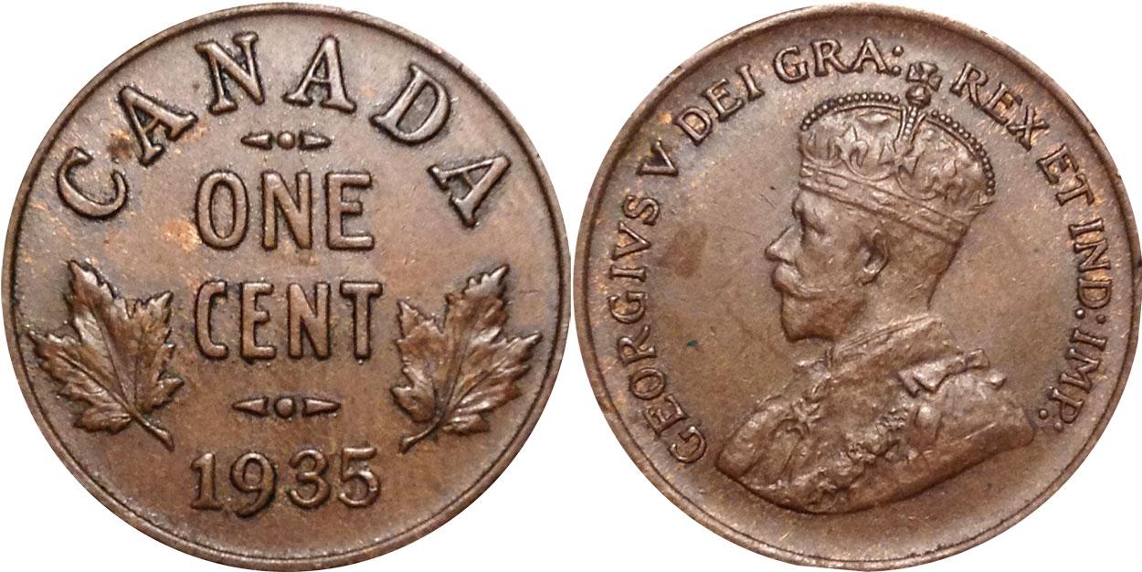 1 cent 1935