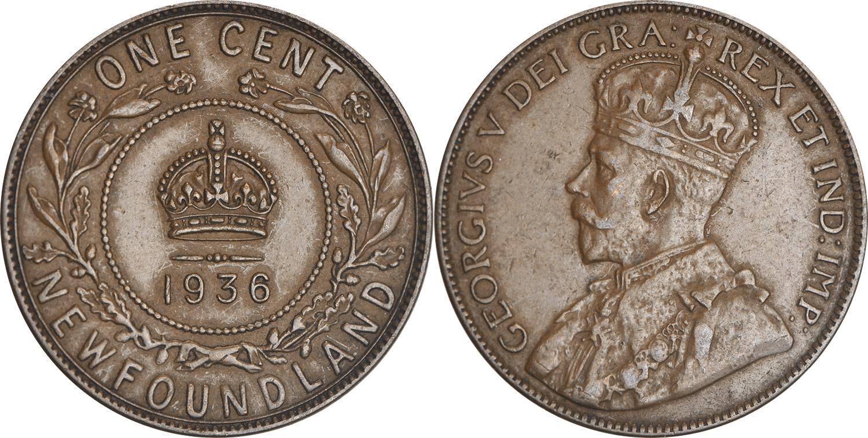 1 cent 1936 - Newfoundland