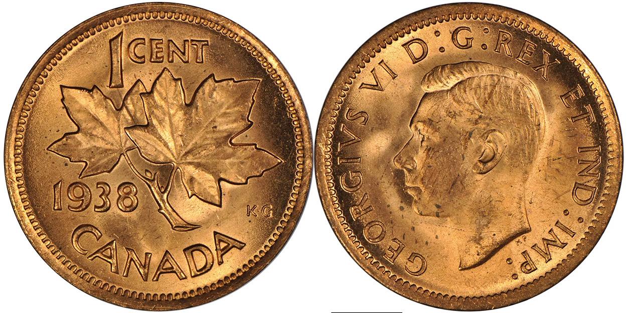 1 cent 1938