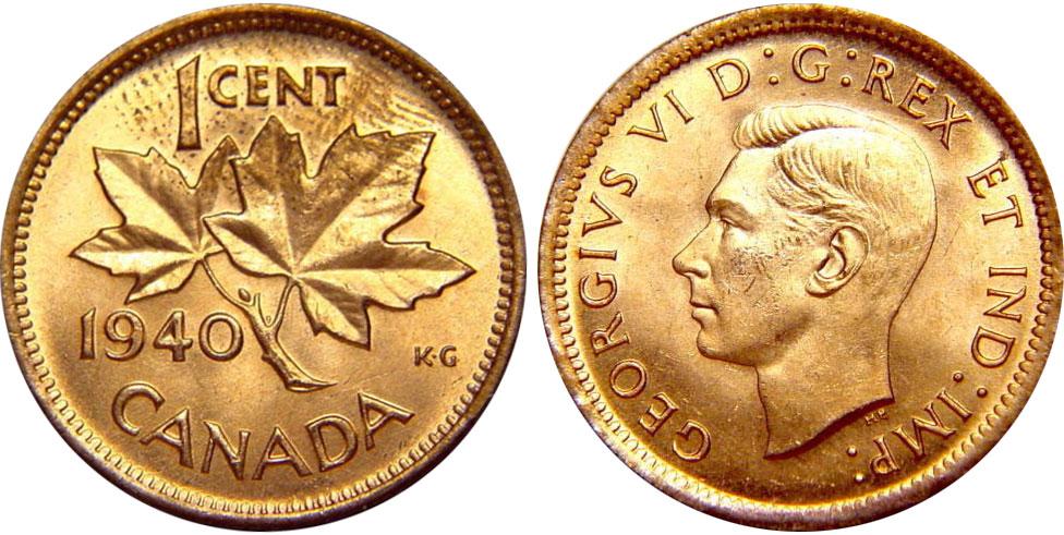 1 cent 1940